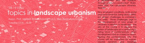 TOPICS IN LANDSCAPE URBANISM